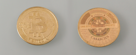Cacasius physical Bitcoins