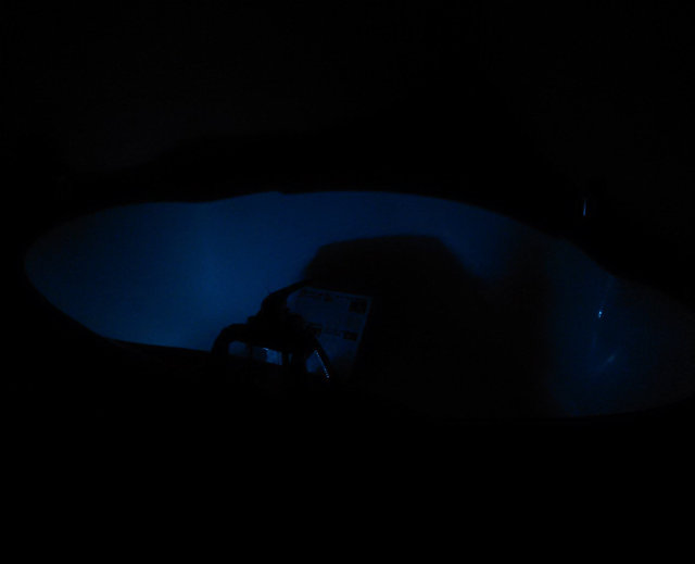 Bathtub with backlight light inside