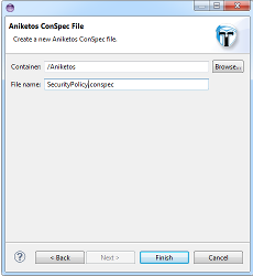 ConSpecEdit new file wizard