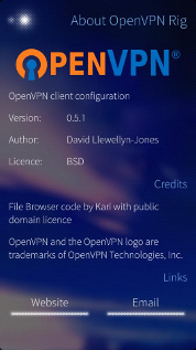 OpenVPN-About screen